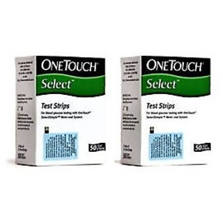 OneTouch Select 100(50x2) Test Strips Expiry January 2019