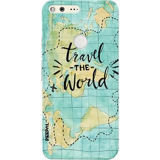 PEEPAL Google Pixel Designer & Printed Case Cover 3D Printing Travel The World Design