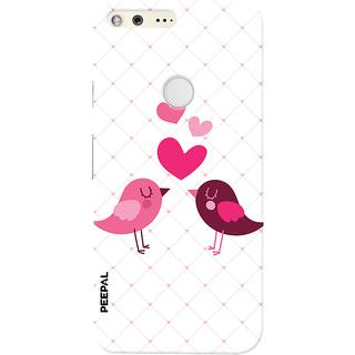 PEEPAL Google Pixel Designer & Printed Case Cover 3D Printing Love Birds Design