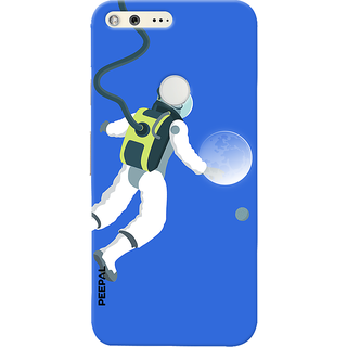 PEEPAL Google Pixel Designer & Printed Case Cover 3D Printing Moon Traveler Design