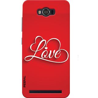 PEEPAL Asus Zenfone Max Designer & Printed Case Cover 3D Printing Love Design