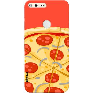 PEEPAL Google Pixel Designer & Printed Case Cover 3D Printing Pizza Design