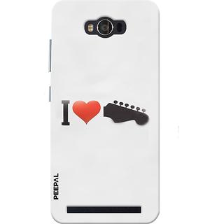 PEEPAL Asus Zenfone Max Designer & Printed Case Cover 3D Printing I Love Music Design