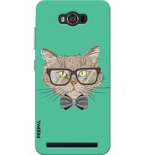PEEPAL Asus Zenfone Max Designer & Printed Case Cover 3D Printing Gentelman Cat Design