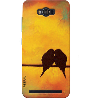 PEEPAL Asus Zenfone Max Designer & Printed Case Cover 3D Printing Love Birds Design