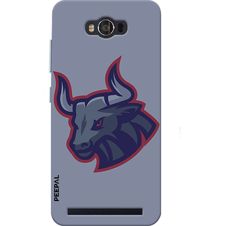 PEEPAL Asus Zenfone Max Designer & Printed Case Cover 3D Printing Angy Bull Design