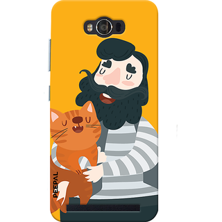 PEEPAL Asus Zenfone Max Designer & Printed Case Cover 3D Printing Cat Love Design