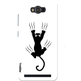 PEEPAL Asus Zenfone Max Designer & Printed Case Cover 3D Printing Useless Cat Design