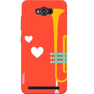 PEEPAL Asus Zenfone Max Designer & Printed Case Cover 3D Printing Music Is Love Design