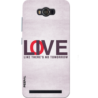 PEEPAL Asus Zenfone Max Designer & Printed Case Cover 3D Printing Love Or Live Design
