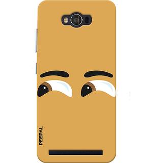 PEEPAL Asus Zenfone Max Designer & Printed Case Cover 3D Printing Peeping Design