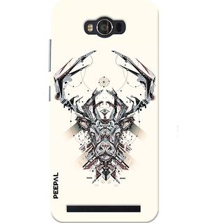 PEEPAL Asus Zenfone Max Designer & Printed Case Cover 3D Printing Technology Demon Design