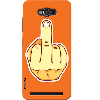 PEEPAL Asus Zenfone Max Designer & Printed Case Cover 3D Printing Mind Your Own Work Design