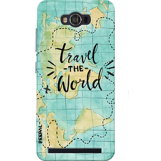 PEEPAL Asus Zenfone Max Designer & Printed Case Cover 3D Printing Travel The World Design