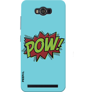 PEEPAL Asus Zenfone Max Designer & Printed Case Cover 3D Printing Booom Pow Design