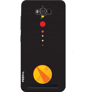 PEEPAL Asus Zenfone Max Designer & Printed Case Cover 3D Printing Solar System Design