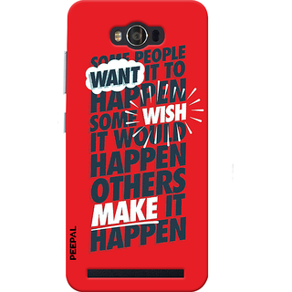 PEEPAL Asus Zenfone Max Designer & Printed Case Cover 3D Printing Quote  Design