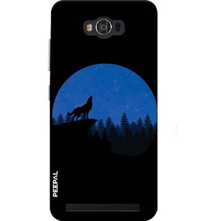 PEEPAL Asus Zenfone Max Designer & Printed Case Cover 3D Printing Ware Wolf Design