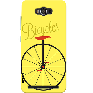 PEEPAL Asus Zenfone Max Designer & Printed Case Cover 3D Printing Bicycle Design