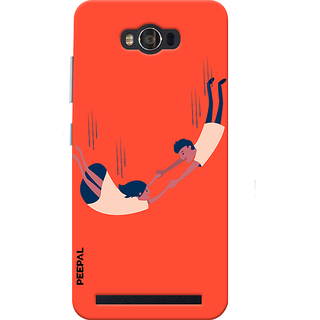 PEEPAL Asus Zenfone Max Designer & Printed Case Cover 3D Printing Love In The Air Design