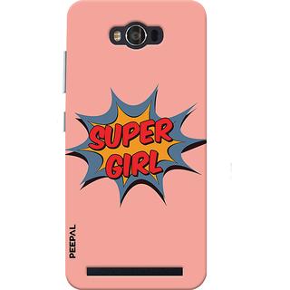 PEEPAL Asus Zenfone Max Designer & Printed Case Cover 3D Printing Super Girl Design