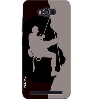 PEEPAL Asus Zenfone Max Designer & Printed Case Cover 3D Printing Rock Climbing Design