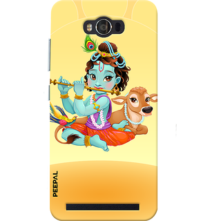 PEEPAL Asus Zenfone Max Designer & Printed Case Cover 3D Printing Krishna Design