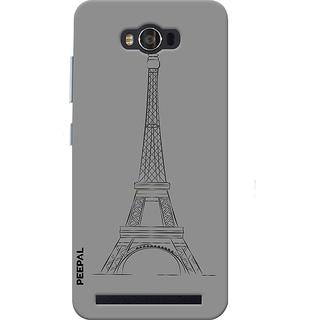 PEEPAL Asus Zenfone Max Designer & Printed Case Cover 3D Printing Eifle Tower Design