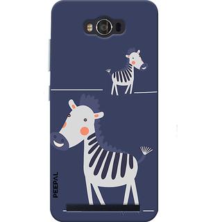PEEPAL Asus Zenfone Max Designer & Printed Case Cover 3D Printing Happy Giraffe Design
