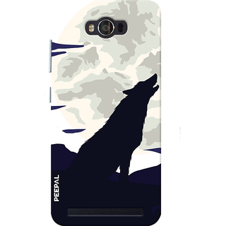 PEEPAL Asus Zenfone Max Designer & Printed Case Cover 3D Printing Lonely Wolf Design