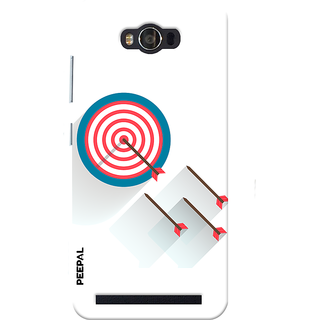 PEEPAL Asus Zenfone Max Designer & Printed Case Cover 3D Printing Bulls Eye Design