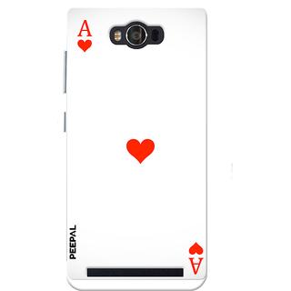 PEEPAL Asus Zenfone Max Designer & Printed Case Cover 3D Printing Card Of Ace Design