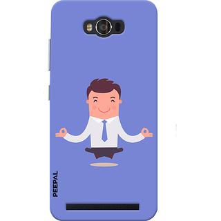 PEEPAL Asus Zenfone Max Designer & Printed Case Cover 3D Printing Corporate Yoga Design