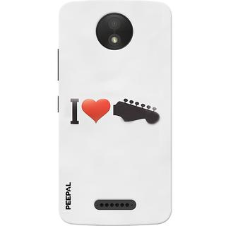 PEEPAL Motorola Moto C Plus Designer & Printed Case Cover 3D Printing I Love Music Design