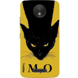 PEEPAL Motorola Moto C Plus Designer & Printed Case Cover 3D Printing Meow Design