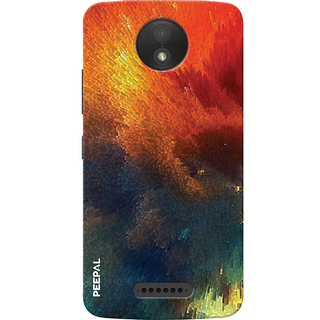 PEEPAL Motorola Moto C Plus Designer & Printed Case Cover 3D Printing Sun Shine Design
