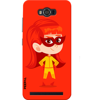 PEEPAL Asus Zenfone Max Designer & Printed Case Cover 3D Printing Junior Super Girl Design
