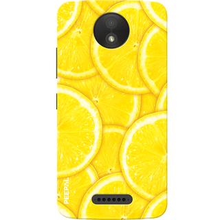 PEEPAL Motorola Moto C Plus Designer & Printed Case Cover 3D Printing Lemon Design
