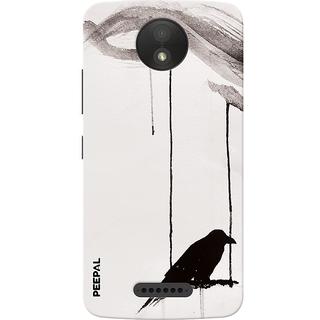 PEEPAL Motorola Moto C Plus Designer & Printed Case Cover 3D Printing Lonely Crow Design