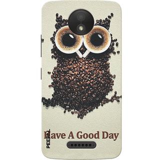 PEEPAL Motorola Moto C Plus Designer & Printed Case Cover 3D Printing Coffee Is Good Day Design