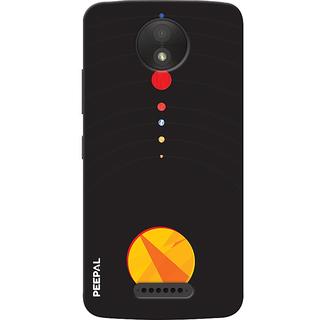 PEEPAL Motorola Moto C Plus Designer & Printed Case Cover 3D Printing Solar System Design