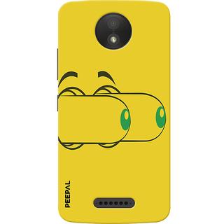 PEEPAL Motorola Moto C Plus Designer & Printed Case Cover 3D Printing Eye Popping Design