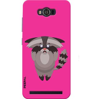 PEEPAL Asus Zenfone Max Designer & Printed Case Cover 3D Printing Scary Cat Design