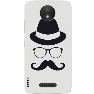 PEEPAL Motorola Moto C Plus Designer & Printed Case Cover 3D Printing Gentelman Design