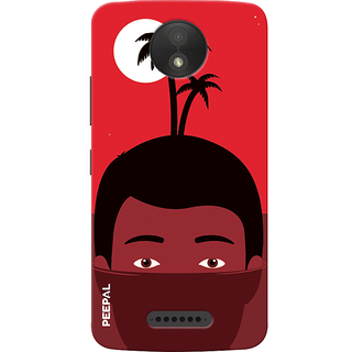 PEEPAL Motorola Moto C Plus Designer & Printed Case Cover 3D Printing Vacation  Design
