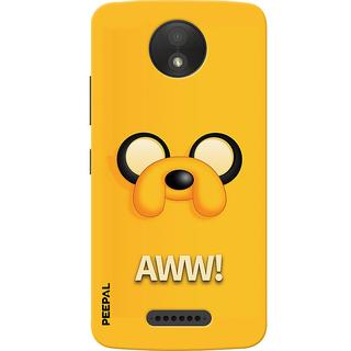 PEEPAL Motorola Moto C Plus Designer & Printed Case Cover 3D Printing AWWW Design