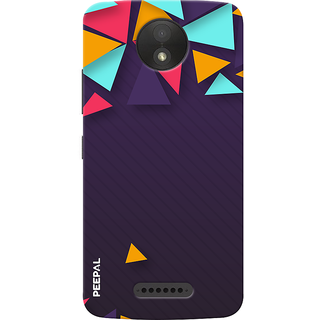 PEEPAL Motorola Moto C Plus Designer & Printed Case Cover 3D Printing Art Multi Colour Design
