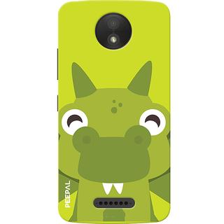 PEEPAL Motorola Moto C Plus Designer & Printed Case Cover 3D Printing Happy Frog Design