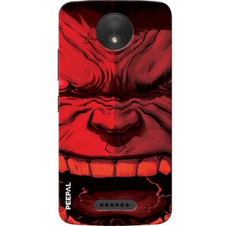 PEEPAL Motorola Moto C Plus Designer & Printed Case Cover 3D Printing Angry Hullk Design