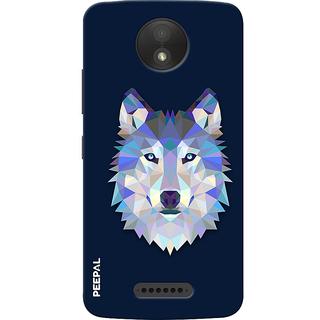 PEEPAL Motorola Moto C Plus Designer & Printed Case Cover 3D Printing Artist Wolf Design
